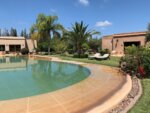 Private guest house pool day